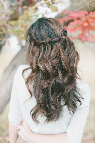 Прически водопад на длинные волосы — 30 фото красивых идей ...