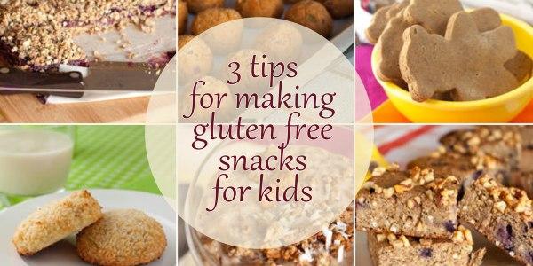 Tips for making gluten free snacks for kids