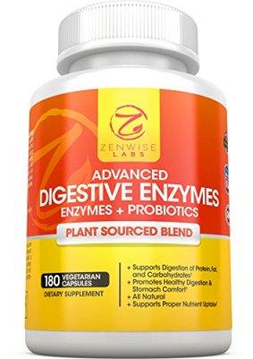 ZenWise Labs Advance Digestive Enzymes + Probiotics