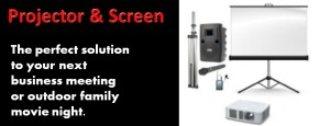 Projector and Screen, For Business or Family Shows