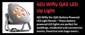 ADJ Wifly QA5 Led Light Rental IEAVR