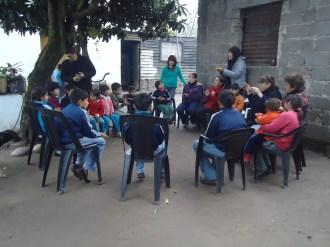 Niños hora feliz Barrio San Rafael