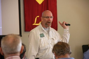 "Photo/Ricardo Tomboc Bob Turner taught an ""Active Shooter"" course during the seminar"
