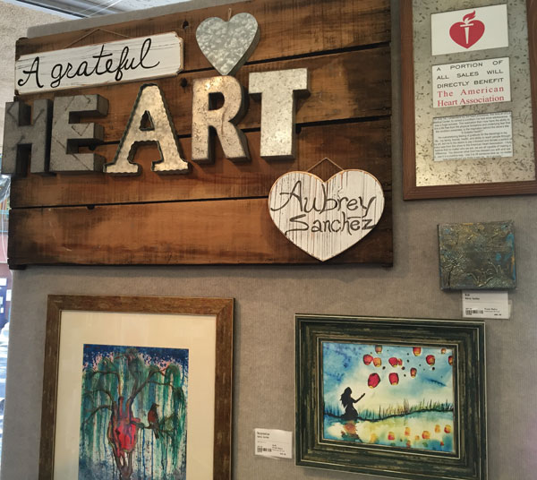 courtesy photo/ aubrey sanchez Aubrey Sanchez is the Redlands Art Association's featured artist. A portion of proceeds from art work sales will benefit the American Heart Association.