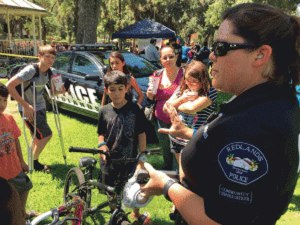 iecn photos/yazmin alvarez  The Redlands Police Department and Micah House After School Program will give away bicycles and backpacks during a Back2School Jam and Community Resource Fair at Sylvan Park from 9 a.m. to noon Saturday.