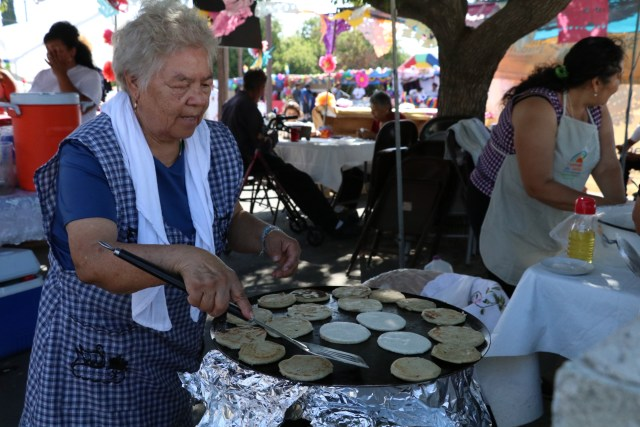 Photo/Anthony Victoria: Colton resident Maria Castañeda making pupusas.