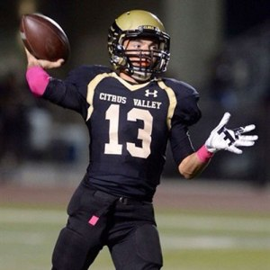 PHOTO COURTESY/HUDL.COM Chris Shiley set records on the grid and on the track at Citrus Valley High School.