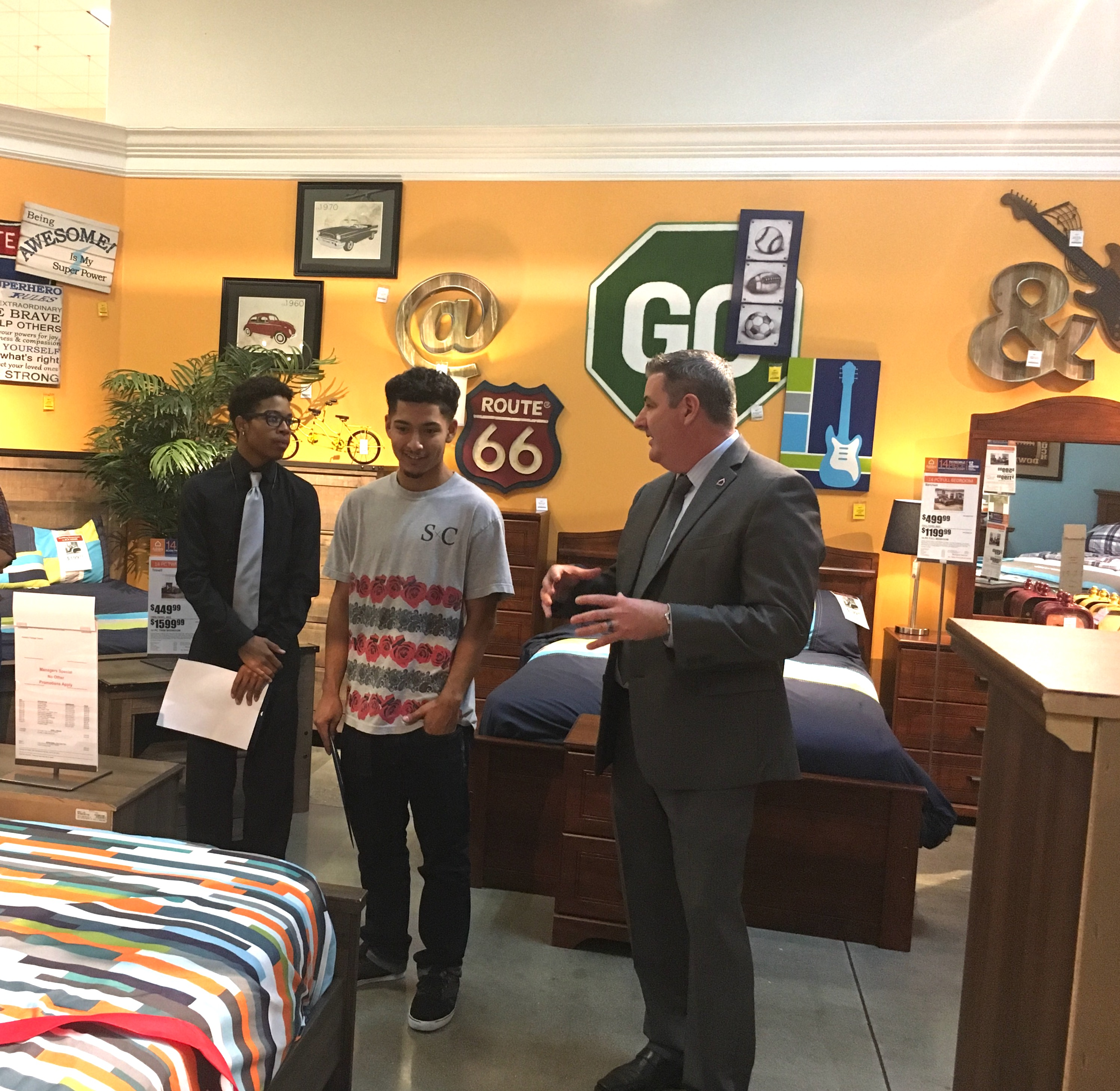 Foster Youth Receive Donations From Aspiranet Ashley Furniture