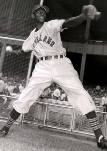 Courtesy Photo Satchel Paige played a number of exhibition games at Perris Hill Ball Park with Bob Lemon.