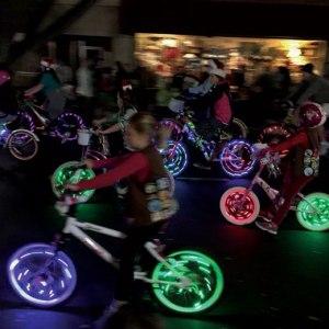 courtesy photo/Redlands Bicycle Classic The Brownies rolled through the Redlands Christmas parade last year.