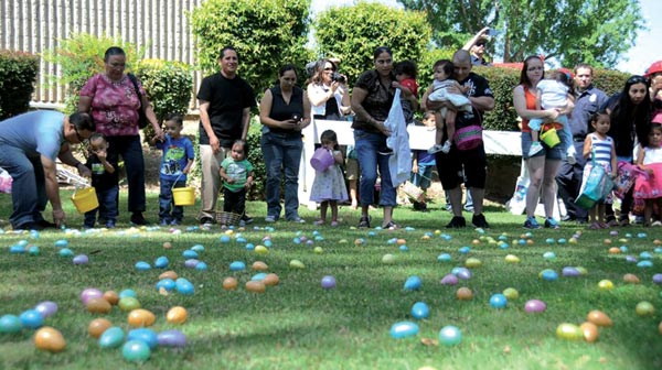 Easter egg hunt at the gardens