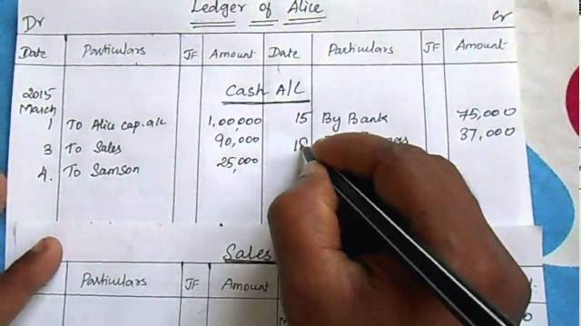 Write and Prepare Ledger Account
