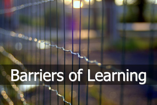 Barriers of Learning