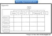 Matrix departmentalization to improve synchronization in enterprise's activities