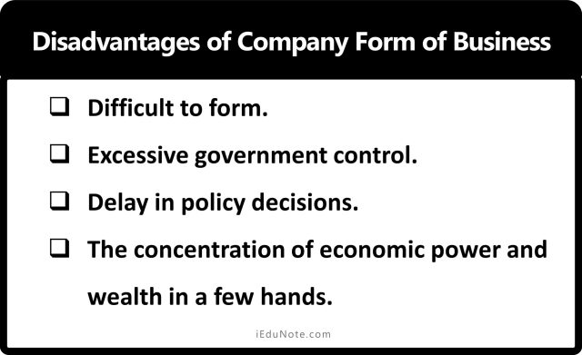 Disadvantages of Company