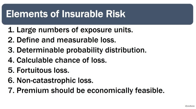 7 elements of insurable risk