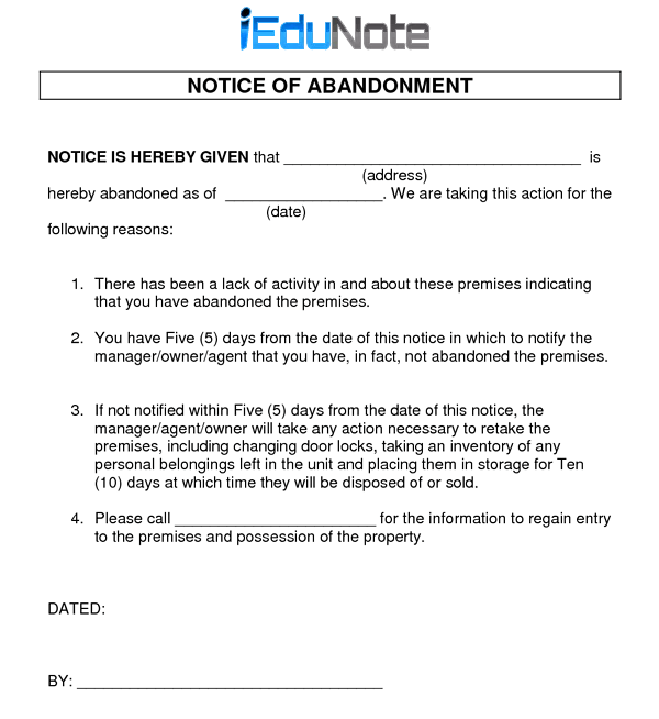 Notice of Abandonment in Marine Trade Insurance