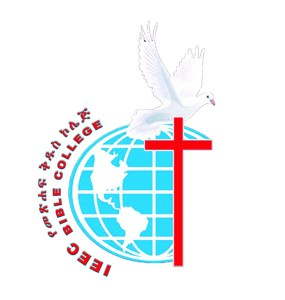 Ieec bible college logo, Blue globe with a red cross and a white dove bird