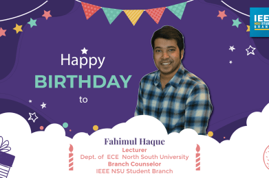 Wishing Happy Birthday to our Branch Counselor!