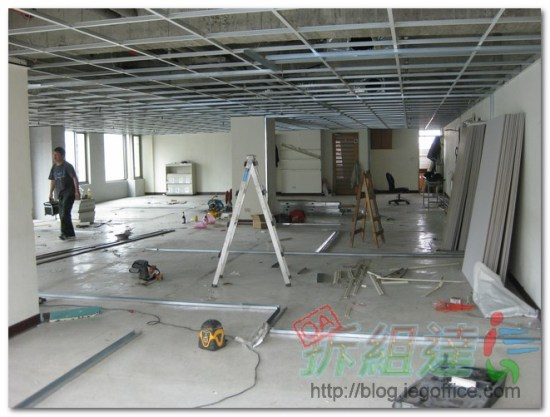 辦公室裝修-輕鋼架工程