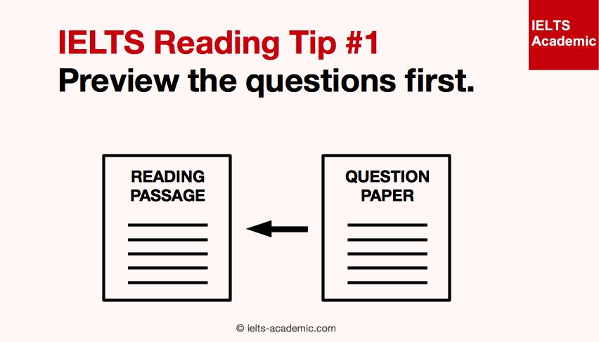 IELTS Reading Tip 1