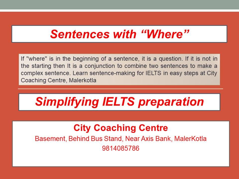 sentences with where