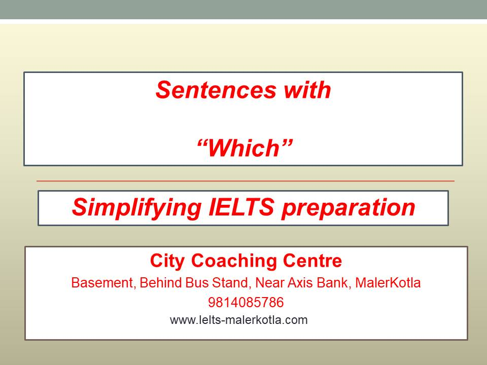 sentences with which