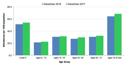 IELTS Writing Task 1: 'hospital attendances' bar chart ...
