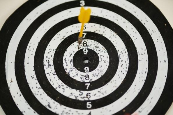訂定目標項目的分數