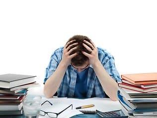 IELTS task 2 frustrated-student