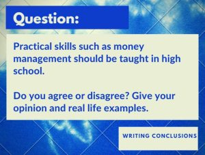 IELTS conclusion question