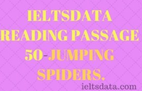 IELTSDATA READING PASSAGE 50-JUMPING SPIDERS.