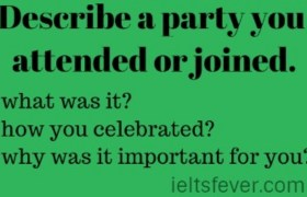Describe a party you attended or joined.