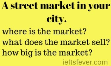 A street market in your city.
