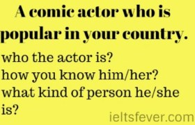 A comic actor who is popular in your country.
