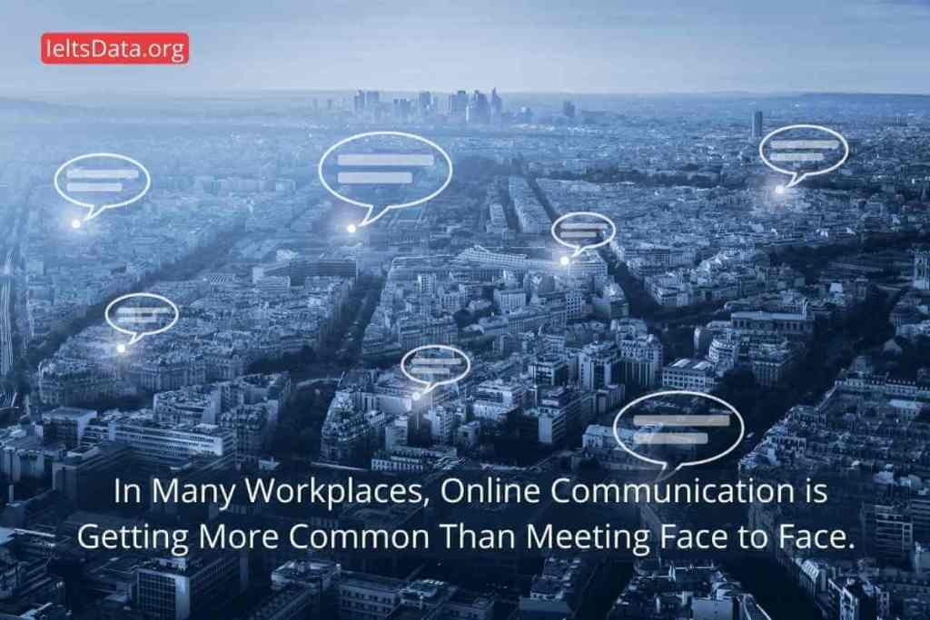 In Many Workplaces, Online Communication is Getting More Common Than Meeting Face to Face. (3) (1)