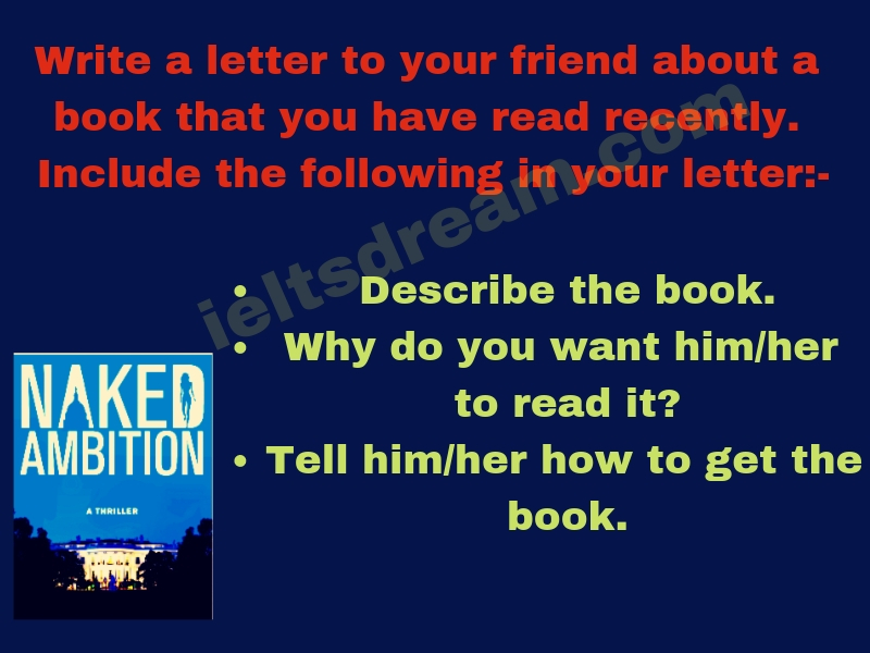 Write a letter to your friend about a book that you have read recently.
