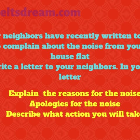 Your neighbors have recently written to you to complain about the noise