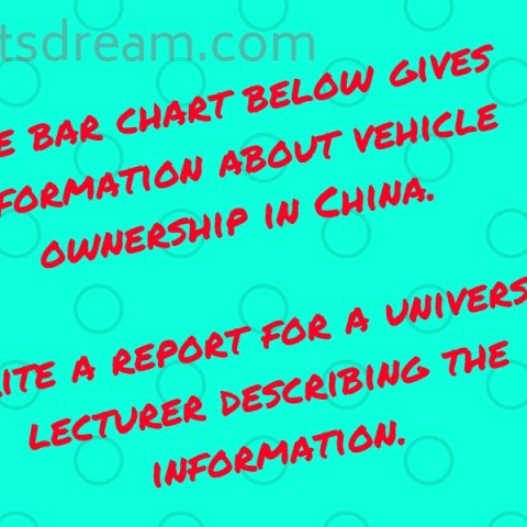 The bar chart below gives information about vehicle ownership in China.