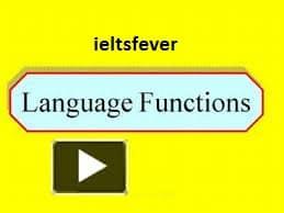 Language Functions English Grammar Ielts Exam