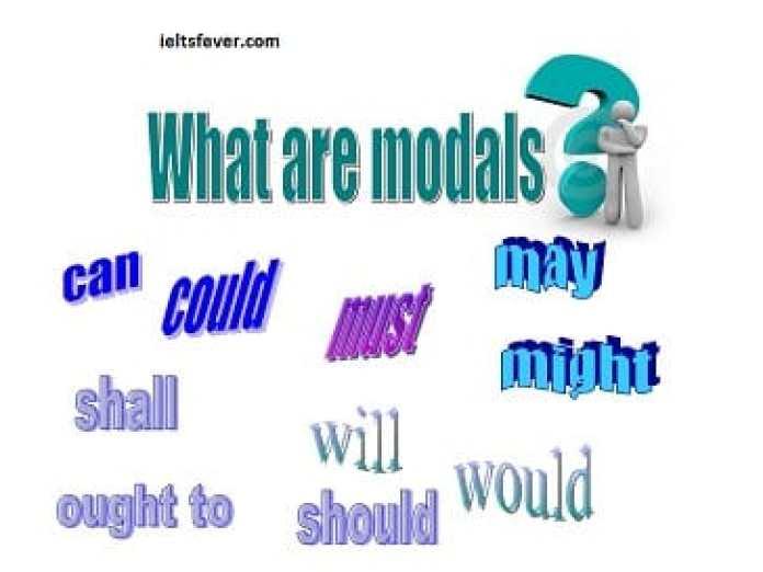What are modals? English grammar ielts exam