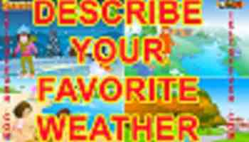 Talk about your Favorite weather ielts exam - IELTS FEVER