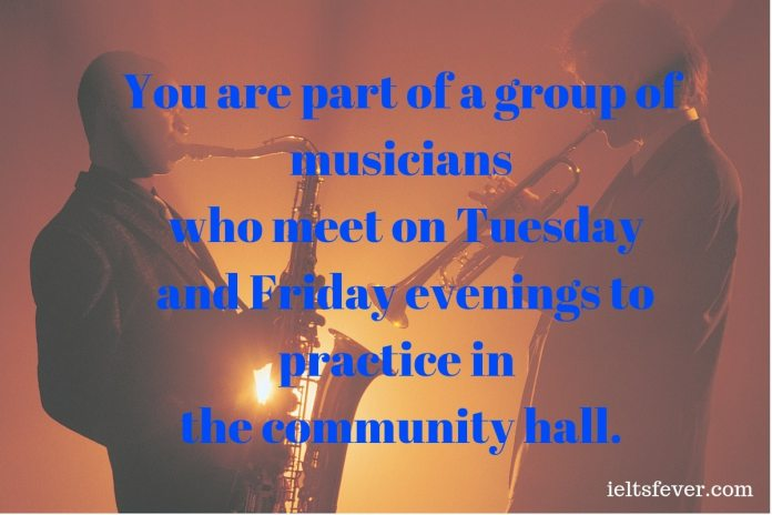group of musicians meet on Tuesday and Friday