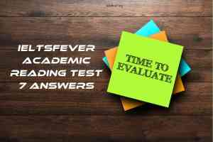 IELTSFever Academic Reading Test 7 Answers