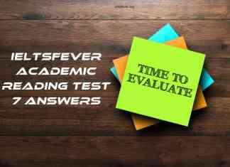IELTSFever Academic Reading Test 7 Answers