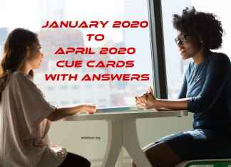 January 2020 to April 2020 Cue Cards with Answers