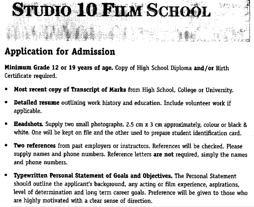 Studio 10 Film School