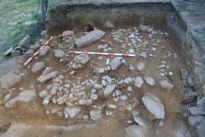 Terraza escavada na 3ª tempada no xacemento paleolítico O Cabrón.