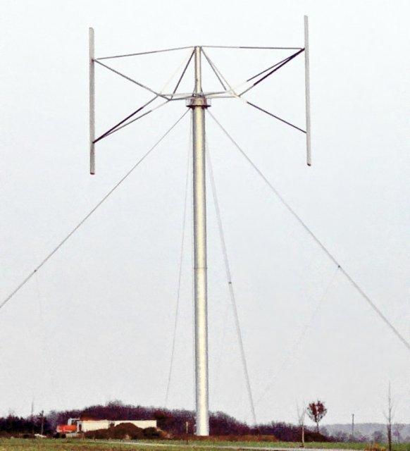 กังหันลมแบบไจโรมิล (Giromill) ที่มา : http://www.symscape.com/files/images/giromill_0.jpg