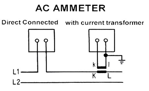 การต่อแอมป์มิเตอร์